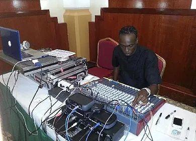 DJ station