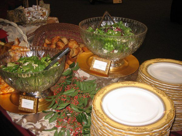 Buffet Salad Display