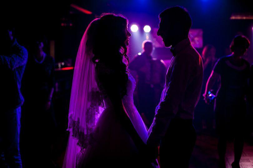 Dance floor silhouettes