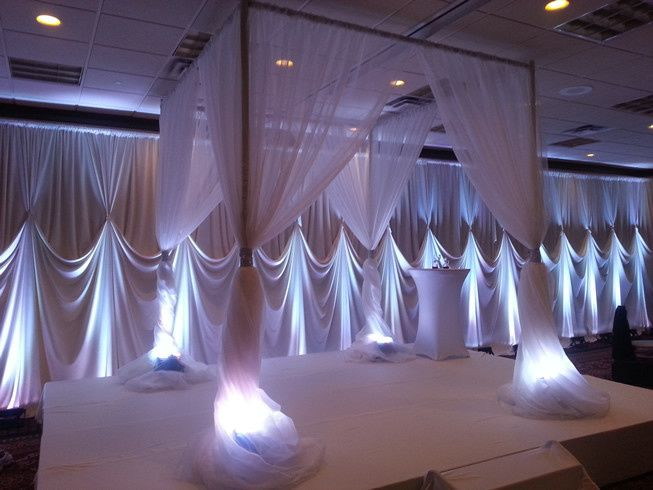 Lighting draperies