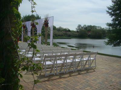 Setup by the lake