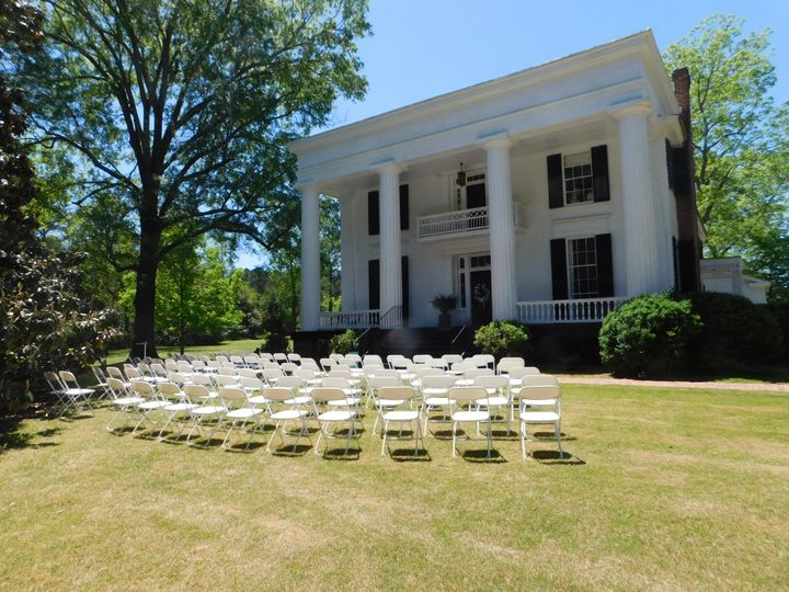 Chantilly Plantation wedding setup