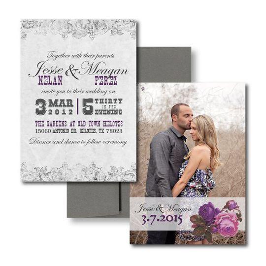 Spanish Rose InvitationVintage Wedding Invitations, Elegant Wedding Invitations, Country Wedding...