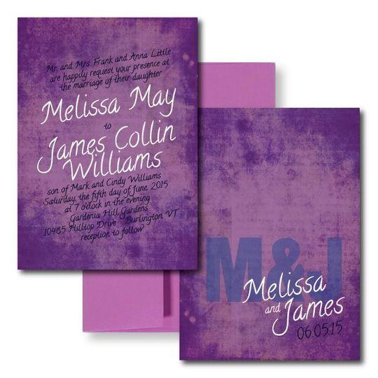 Purple Wedding Invitations, Modern Wedding Invitations  www.thesweetheartshoutout.com
