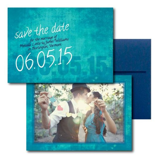 Blue Save the Dates  www.thesweetheartshoutout.com