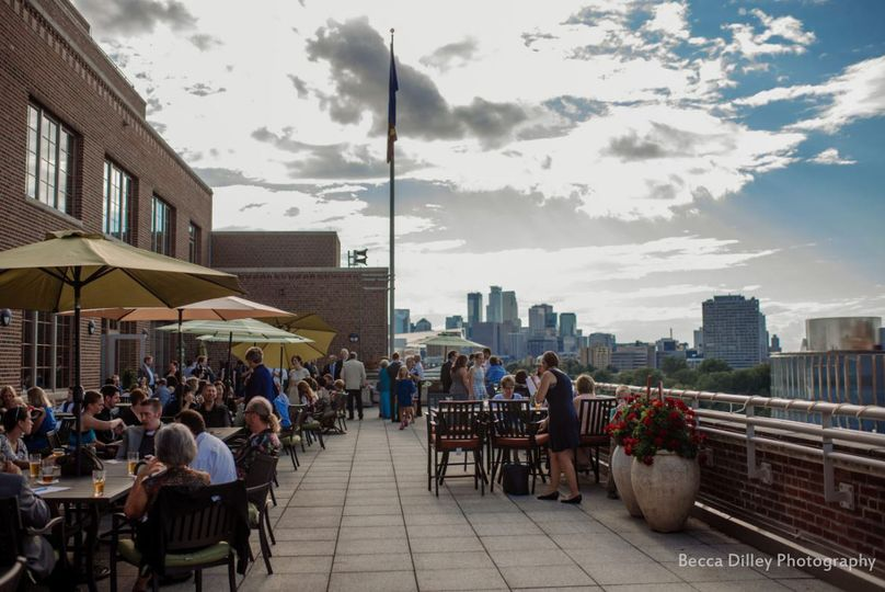 Rooftop venue Becca Dilley Photography