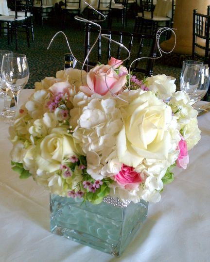 Sparkle and bling make this centerpiece shine