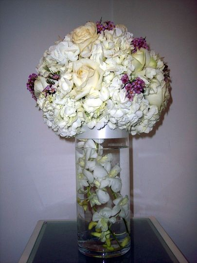 Classic hydrangea and orchids