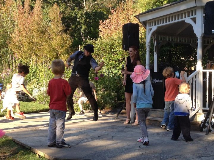 Prestigious outdoor concert series, teaching the kids how to dance along