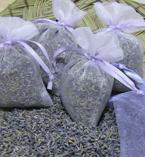 Lavender filled favor bags