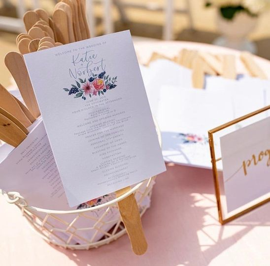 Summer wedding program