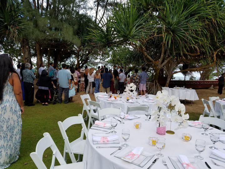 Outdoor wedding ceremony and setup