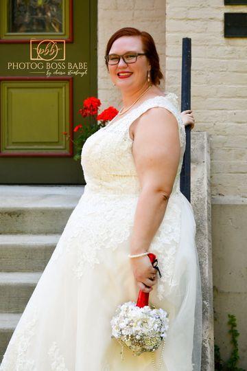 Bride posed.