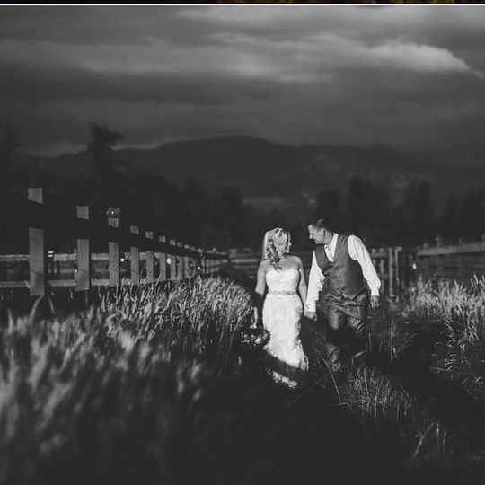 Couple by the fields