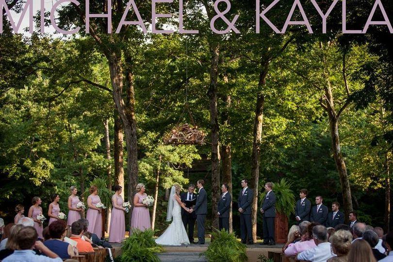 Woodsy outdoor wedding,  Deer Mountain Events, Ozark AR