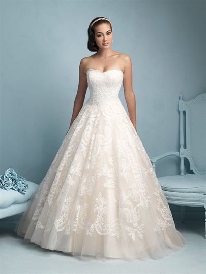 Allure Bridals style 9217. An exquisite ball gown. Available at Encore Bridal