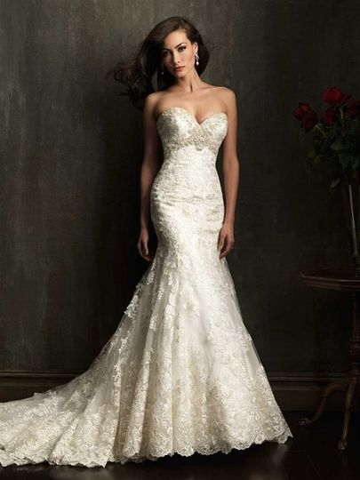 Allure Bridals style 9051. This is must see in person at the details are stunning and too many to...