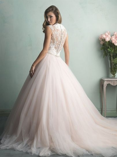 Allure Bridals style 9162. The back is just as stunning as the front. Come try this one on at Encore...