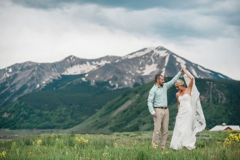 We are loving the views of our bride married in Crested Butte.