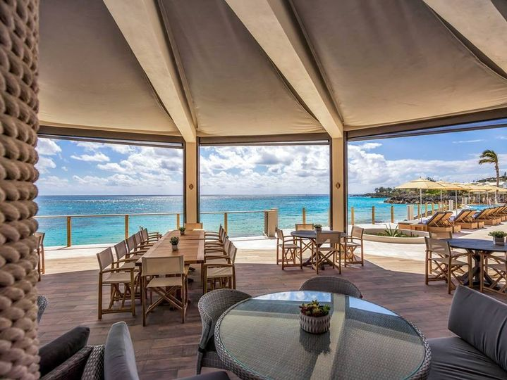 A beachfront dining experience