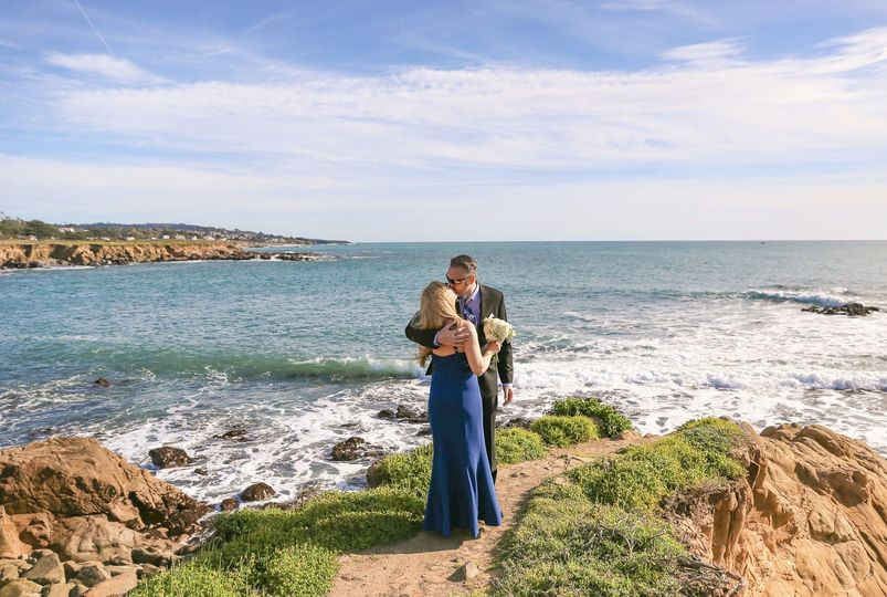 elopement photos photography cambria ca destination beach ocean portraits couple blue dress elope 196 51 354273 1562190935