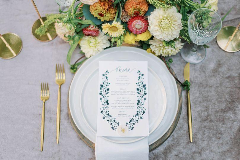 Elegant Wedding Menu Cards