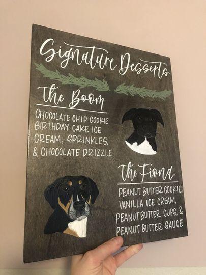Signature Dessert Pet Sign