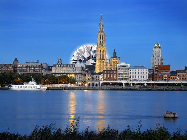 Skyline of Diamond capital of the world, Antwerp.