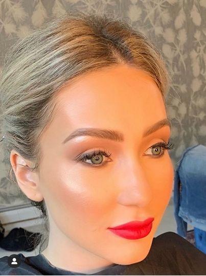 Glamorous red lip