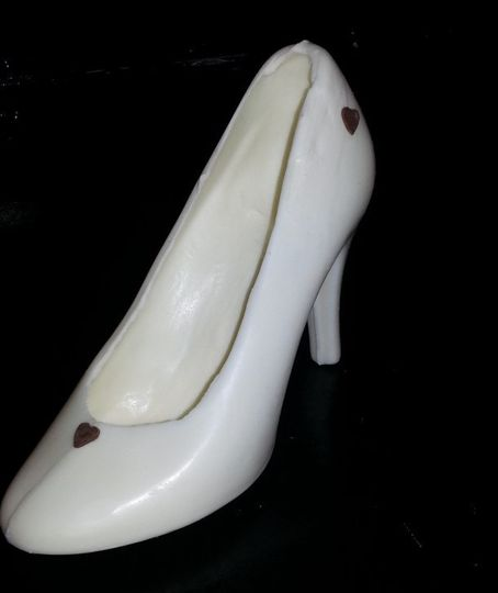 White Chocolate High Heel Bridal Party Favor
