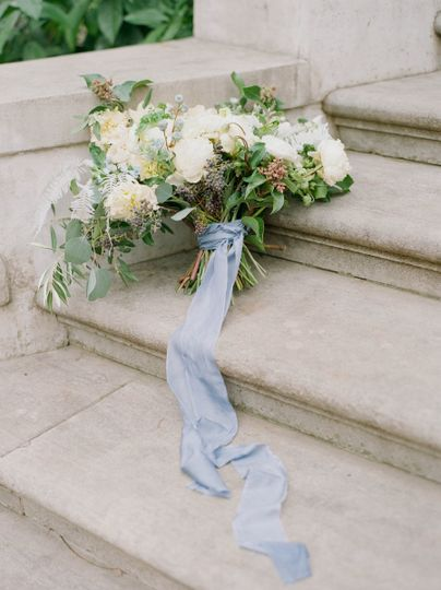 Sash and bouquet
