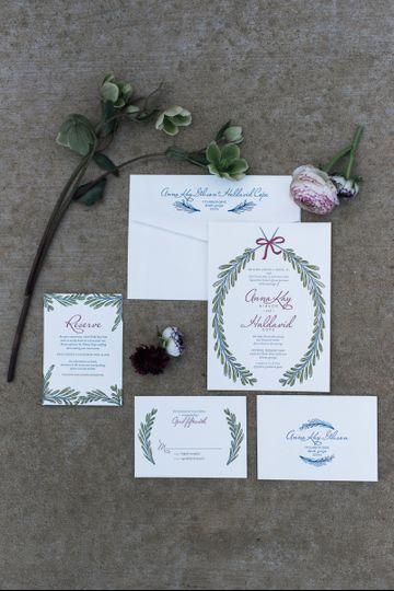 Invitation spread