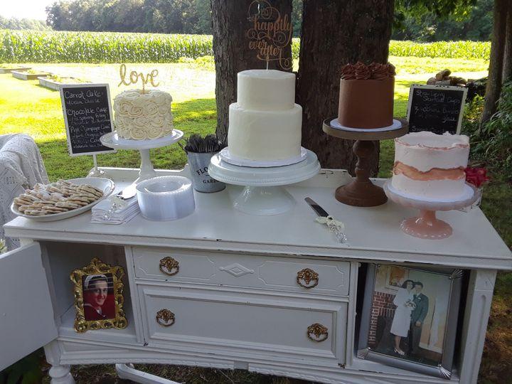 Assorted Wedding Cakes Bar