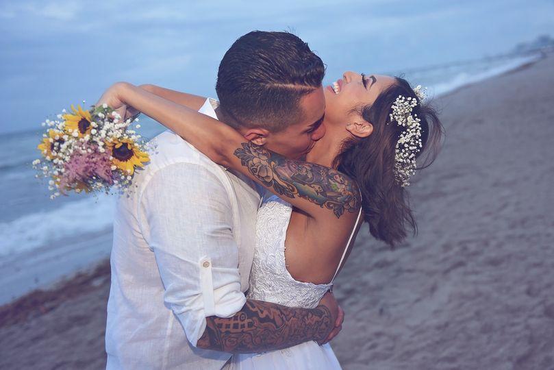 Hurricane wedding