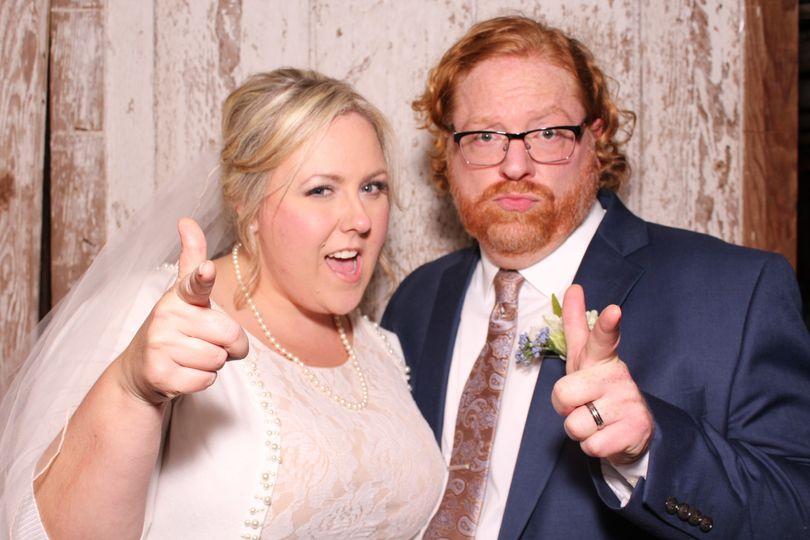 Newlyweds strike a pose