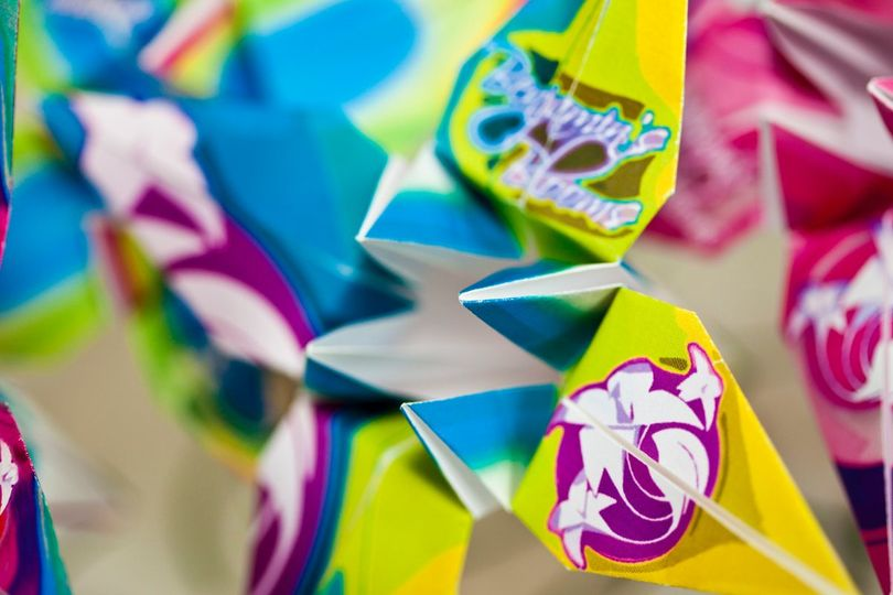 We can print anything onto a flower - names, quotes, pictures, logos - you name it, we can do it.