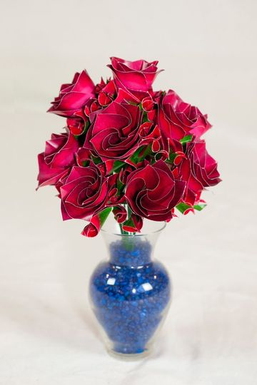 Dozen red roses - we can print any desired color/patterns