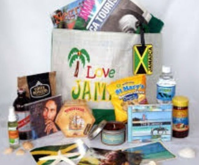 Jamaican-themed gift bags