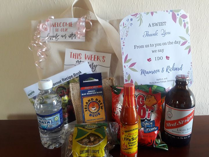 Welcome bag w/ Jamaican treats