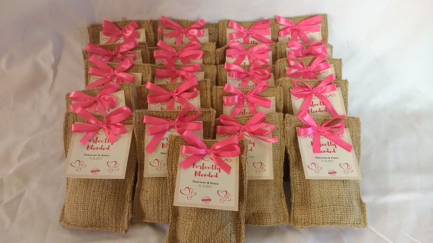 Custom Coffee packs with tags