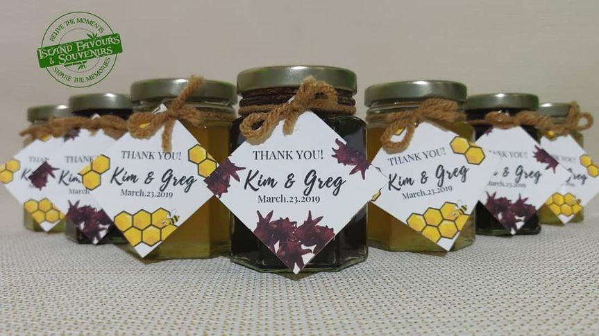Custom Jam and Honey Jars