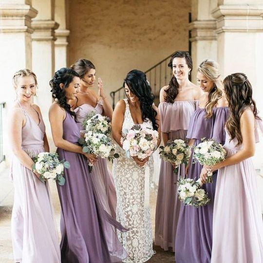 A bride's best friends