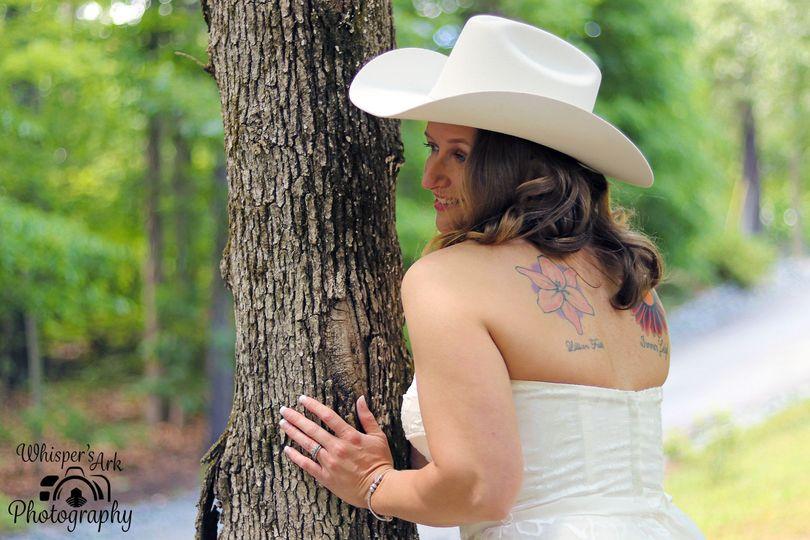 Peek a boo bride