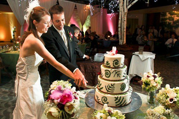 Kelly and Rob cut their cake and guests were able to eat the gorgeous creation!Photo by Spots of...