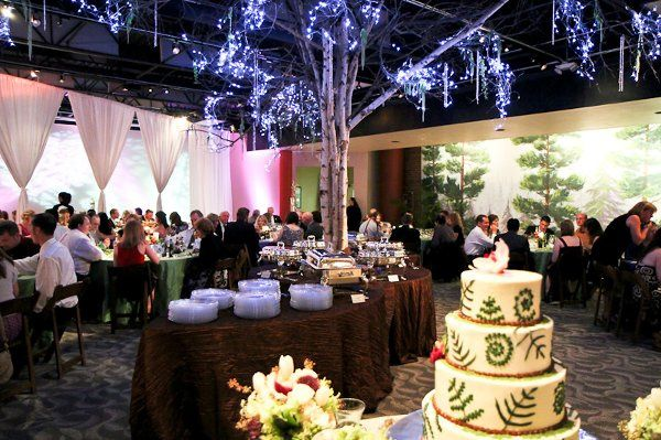 Mitchell's Gallery space provided the background for the fairyland forest inspired nuptials. The...