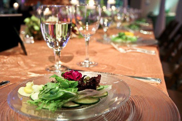 Salads of carpaccio cucumbers and zuchinni with fresh baby lettuces, fine herbs and verjus were...