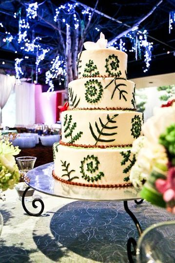 The vegan couple had a friend create the top two tiers of raw cake.  Chef Casey baked the vegan...