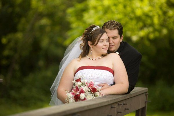 A little snuggle after the wedding in June 2009!