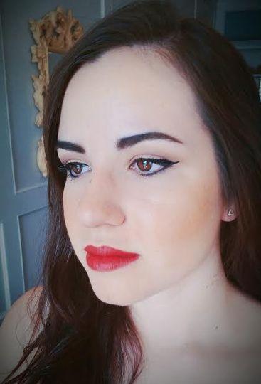 Simple makeup look