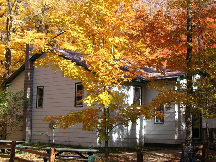 Cabin in the fall